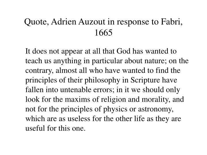 Quote, Adrien Auzout in response to Fabri, 1665