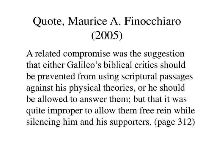 Quote, Maurice A. Finocchiaro (2005)