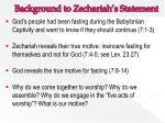 background to zechariah s statement