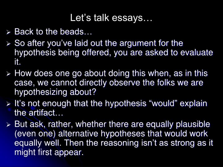 Let's talk essays…