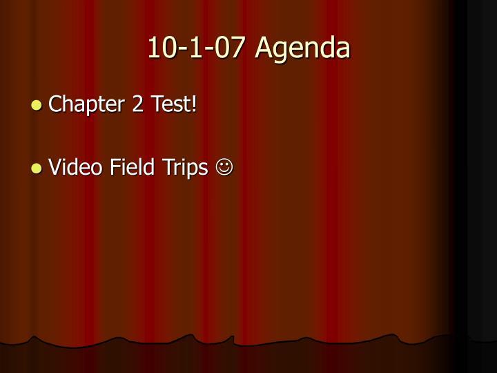 10-1-07 Agenda