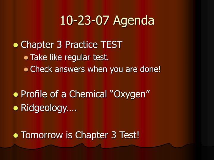 10-23-07 Agenda