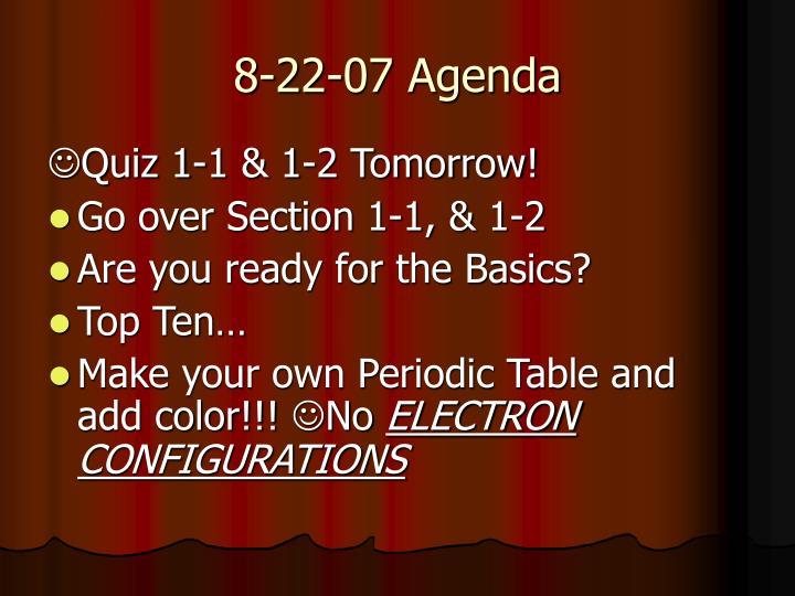 8-22-07 Agenda