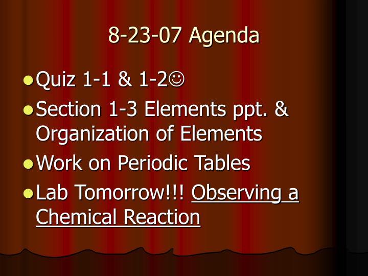 8-23-07 Agenda