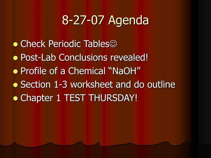 8-27-07 Agenda