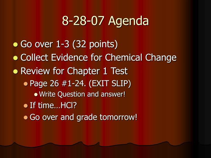 8-28-07 Agenda