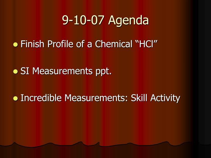 9-10-07 Agenda
