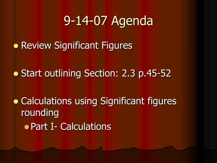 9-14-07 Agenda