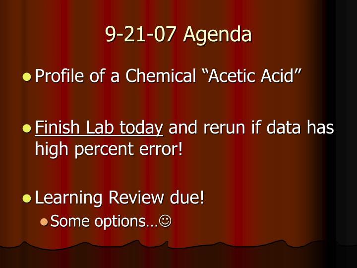 9-21-07 Agenda