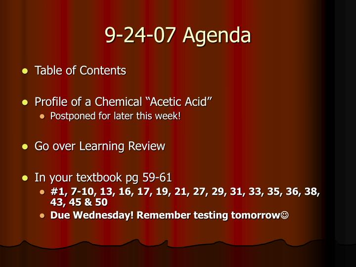 9-24-07 Agenda