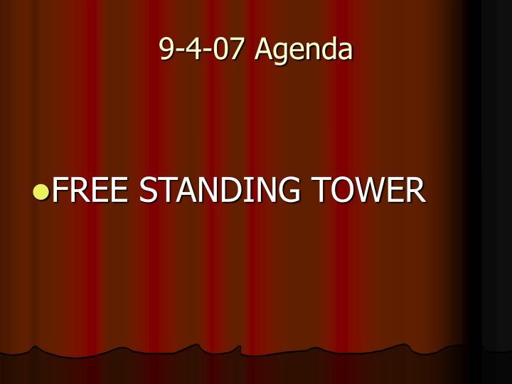 9-4-07 Agenda