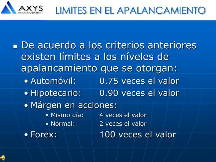 LIMITES EN EL APALANCAMIENTO