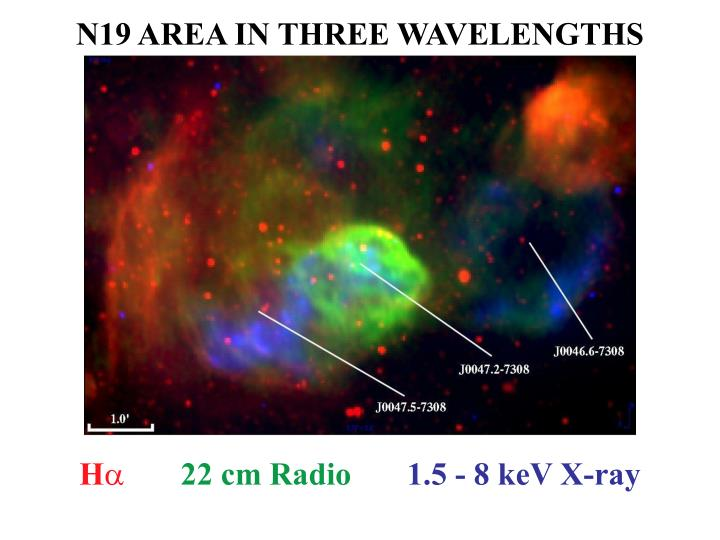 N19 AREA IN THREE WAVELENGTHS