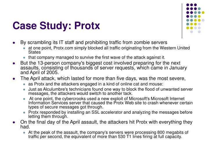 Case Study: Protx