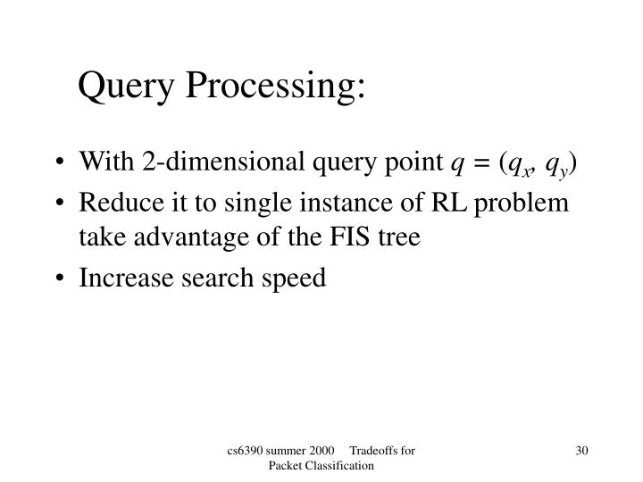 With 2-dimensional query point