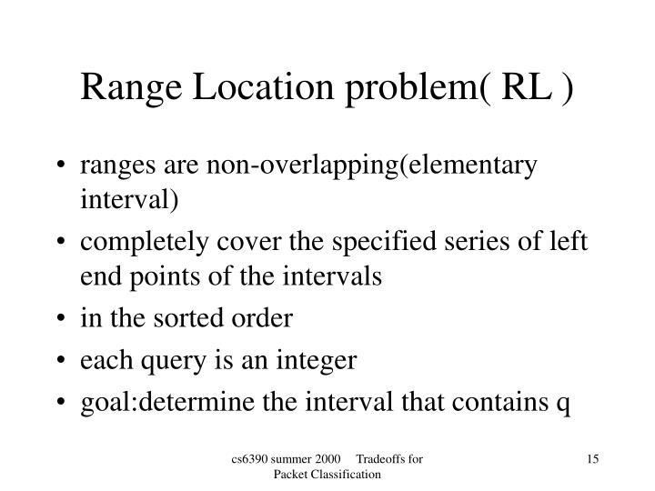 ranges are non-overlapping(elementary interval)