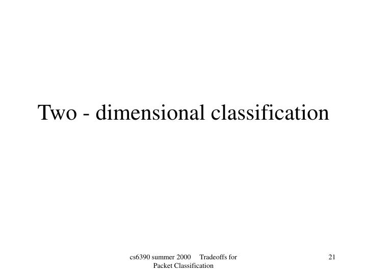 Two - dimensional classification