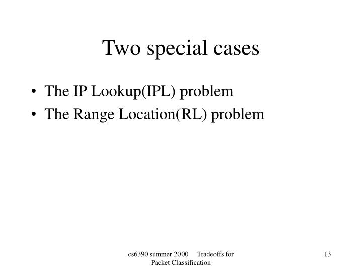 Two special cases