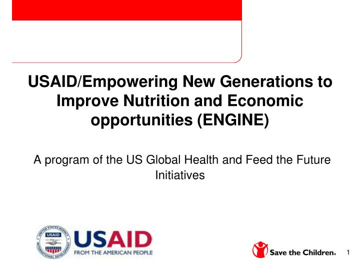 USAID/Empowering New Generations to Improve Nutrition and Economic opportunities (ENGINE)