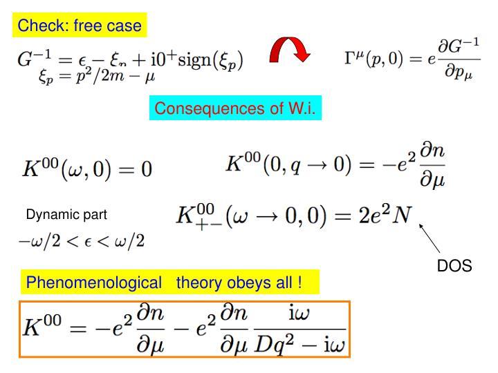Check: free case
