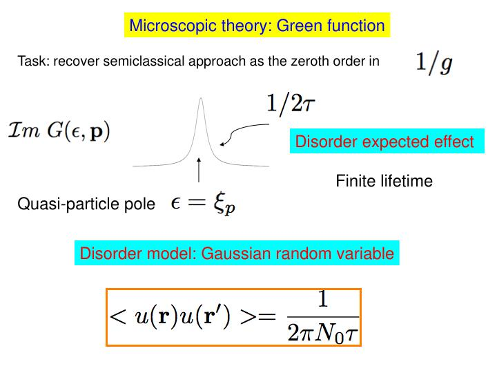 Microscopic theory: Green function