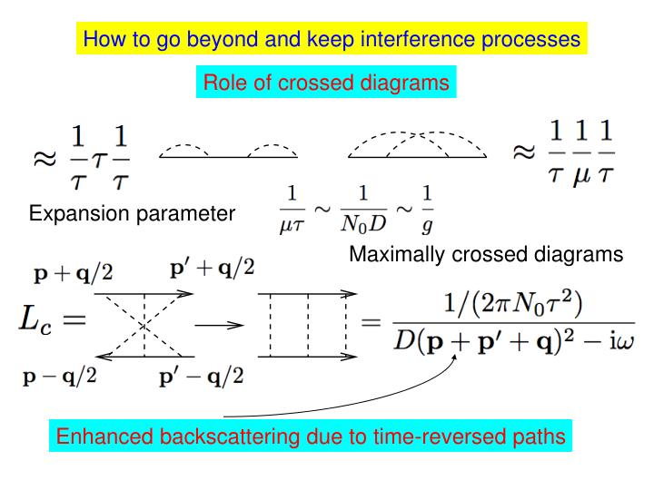 How to go beyond and keep interference processes
