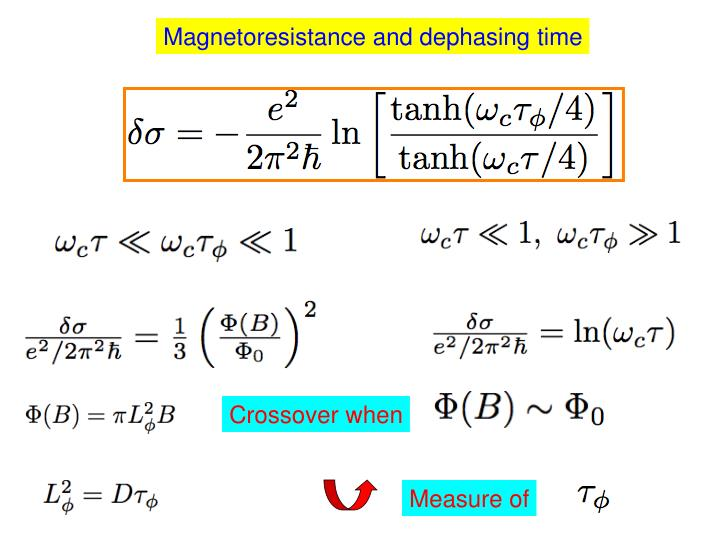 Magnetoresistance and dephasing time
