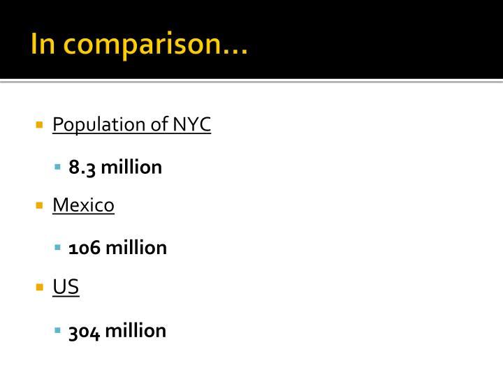 In comparison…