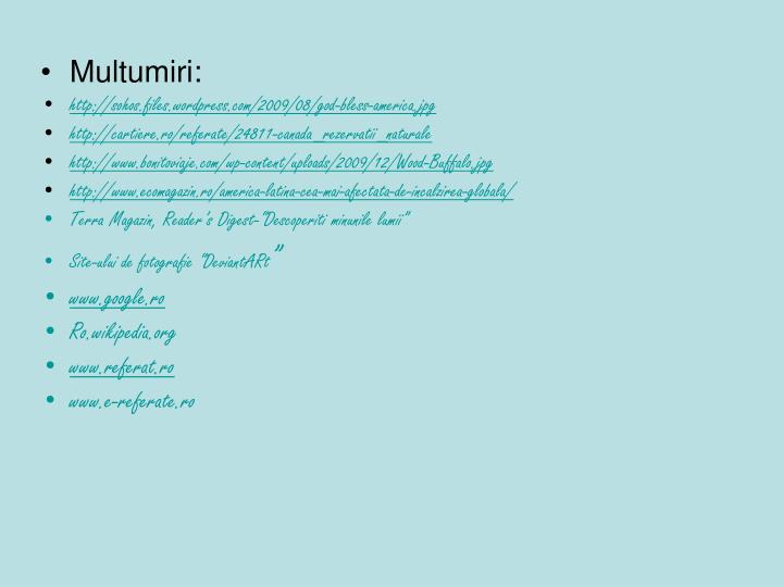 Multumiri: