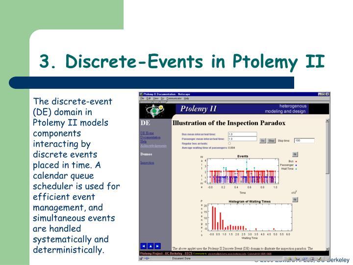 3. Discrete-Events in Ptolemy II