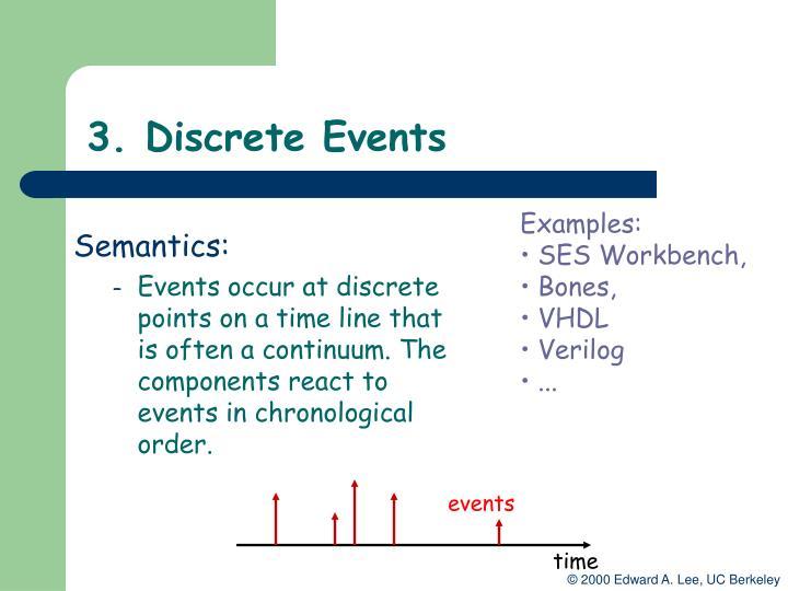 3. Discrete Events