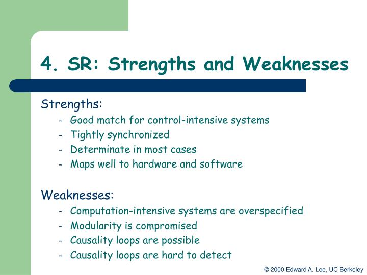 4. SR: Strengths and Weaknesses
