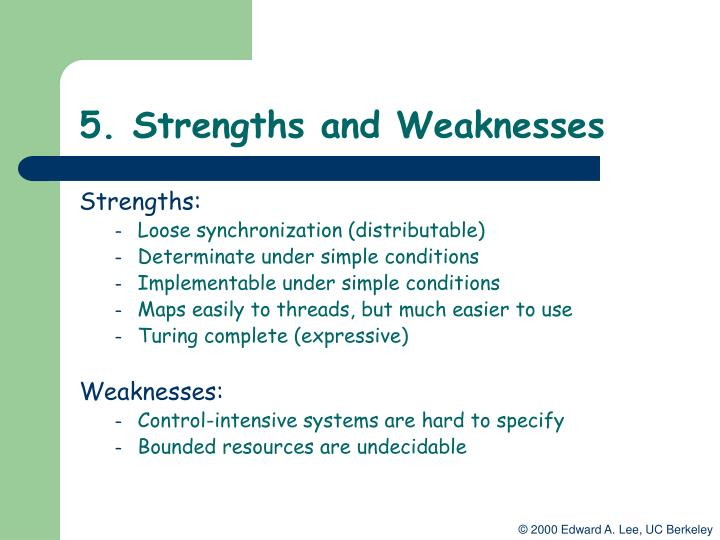 5. Strengths and Weaknesses