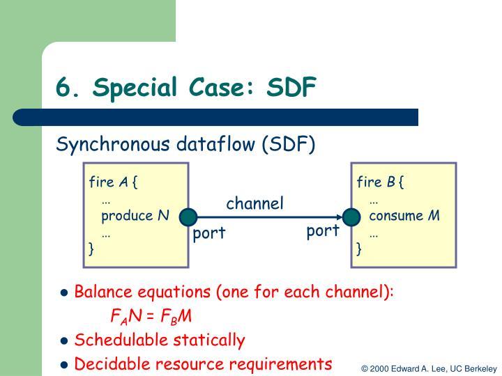 6. Special Case: SDF