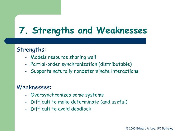 7. Strengths and Weaknesses