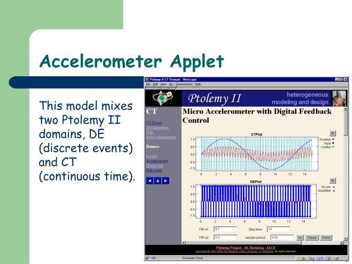 Accelerometer Applet
