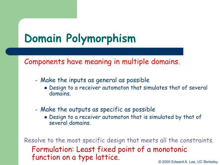 Domain Polymorphism