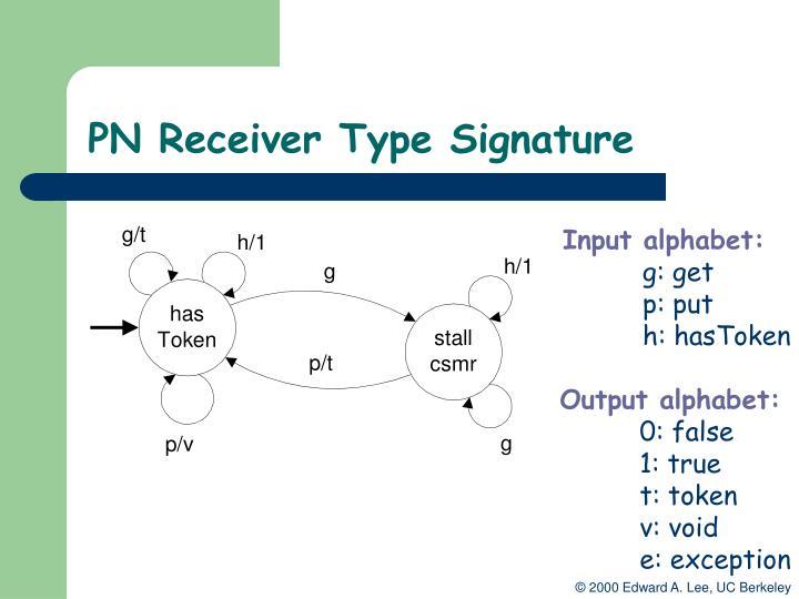 PN Receiver Type Signature