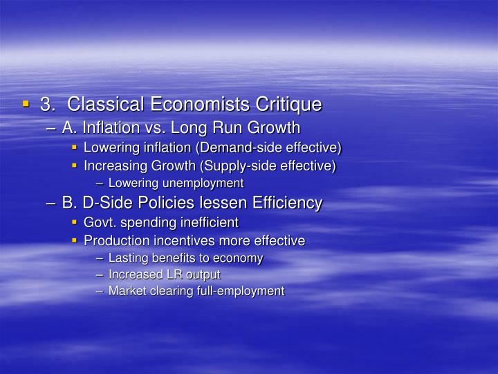 3.  Classical Economists Critique