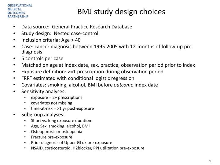 BMJ study design choices