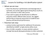 lessons for building a risk identification system1