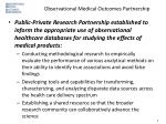 observational medical outcomes partnership