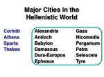 major cities in the hellenistic world