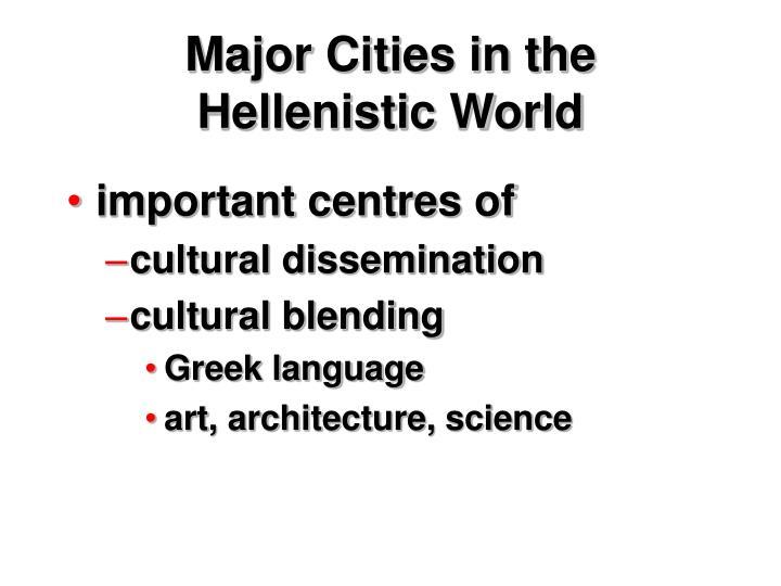 Major Cities in the