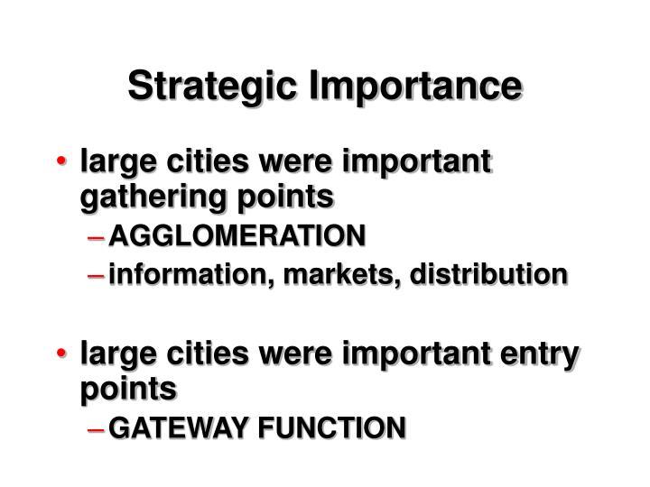 Strategic Importance