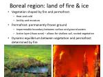 boreal region land of fire ice