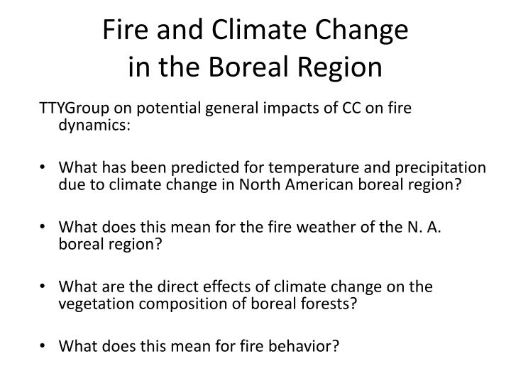 Fire and Climate Change
