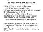 fire management in alaska