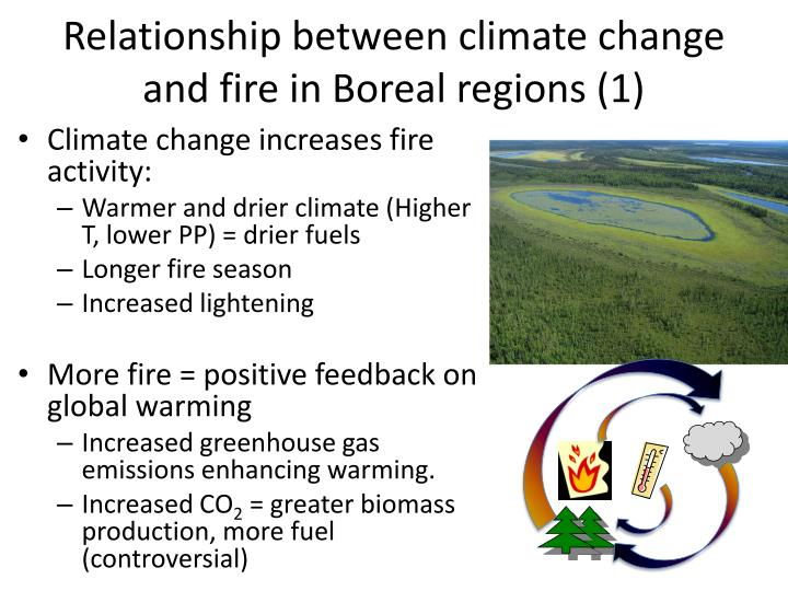 Relationship between climate change