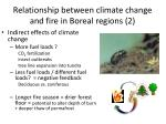 relationship between climate change and fire in boreal regions 2
